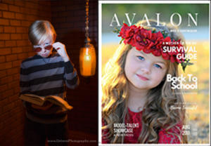 """Jordan Chambers in """" Avalon Model + Talent Magazine"""" Back To School Issue,  August 2017"""