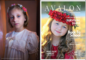 """Ashleigh Chambers in """" Avalon Model + Talent Magazine"""" Back To School Issue,  August 2017"""