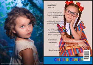 """Lexi-Lou in """"Child, Tween, Teen Magazine: Child & Family Back to School"""", August 2017"""