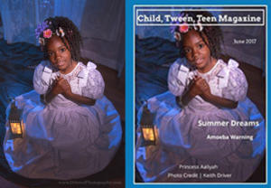 """Princess Aaliyah on the Front Cover of the """"Summer Dreams"""" special issue of """"Child, Tween, Teen Magazine"""""""
