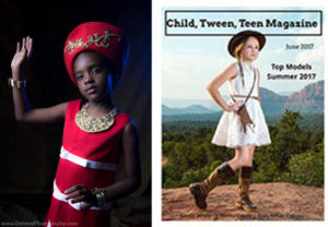 Princess Aaliyah   in Child, Tween, Teen Magazine's Top Models of Summer. June 2017