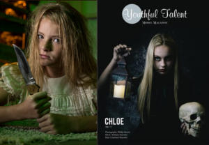 Kailey on Back Cover of Youthful Talent Model Magazine #19, Nov 2018